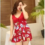 New A Printed Plus Size Swimming Suit Fat Ladies Swimmwear Nz Bathing Suits For Fat Girl