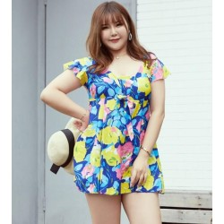 2019 New A Printed Plus Size Swimming Suit 165-220(lb) Fat Ladies Swimmwear Nz Bathing Suits
