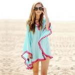 Women's Fashion Swimwer Bikini Beach Cover Up Sun Prevention Mini Dress