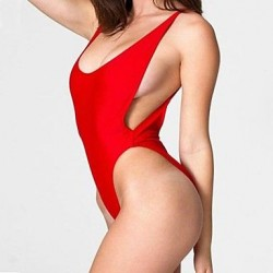 Women's Sexy High Cut Backless Bathing Suit Beachwear One piece Swimwear Nz