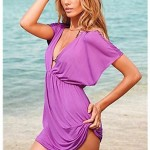 Black Classic Beach Cover-up Mini Dress