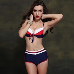 Nzswimwear 2019 New Arrival Women's Sexy Bikini Push Up Plus Size Sport Style Swimwear Nz With Boyleg Bottom