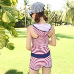 Elegant Fashion Women's Stripe One Piece Swimwear Nz Swimsuit Nz