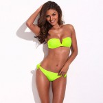 Beach Party, Forever Sexy - RELLECIGA Full-Lined Bandeau Top Bikini Set with Mild Push-up Removable Padding