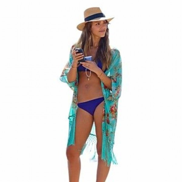 Women's Sexy All-Matching Thin Print Cover-ups