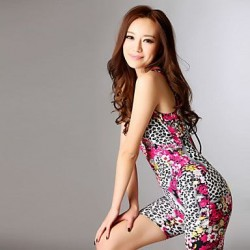 Women's Fashion Floral Print One-piece Swimwear Nz with Bra Pads