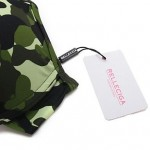 Women's Camouflage Print Halter with Soft Push-up Cups and Front Bow BIKINI