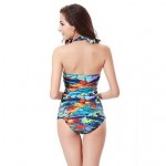 Free shipping Hot Wholesale Vintage Allover Print 2019 Womens Swimwear Nz Tankinis M.L.XL