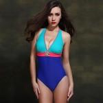 Nzswimwear 2019 New Arrival Women's Sexy Swimwear Nz Push Up Plus Size One Piece Contrast Color