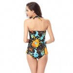 Free Shipping Hot Wholesale Vintage Allover Print 2015 Womens Swimwear Nz Tankinis M.L.XL