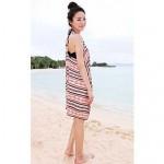 Women's Fashion Rome Print Back Cross Cotton Swimwear Nz Swimsuit Nz Bikini Beach Cover Up Holiday dress