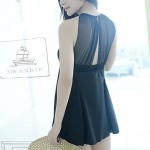 Black Elegant Women Hem Sarong Cover Up Piece Swimsuit Nz Bathing Suit
