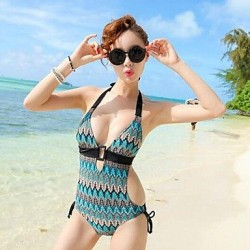 Women's European And American Pierced Sexy Swimsuit Nz