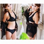 Fashionable Bikini Sexy Gathered Tankinis Swimsuit Nz with Gauze