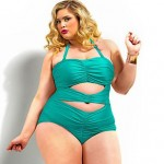 Women's Hollow Out Push-up Solid Halter One-pieces Plus Size
