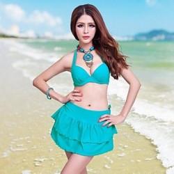 Nzswimwear® Women's Plus Size Bikini Three-Piece Swimdress