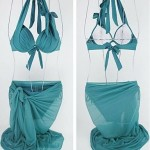 Women's Solid Steel Toby Gini Super Sexy Swimsuit Nz Veil