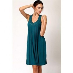 Women's Stylish Sexy Solid Deep V Elegant Hotfixrhine Stone Beach Dress
