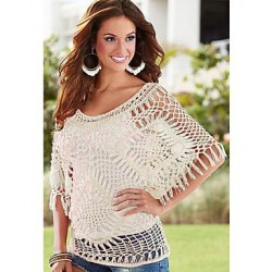 Women's Fringes Detail Crochet Beachwear