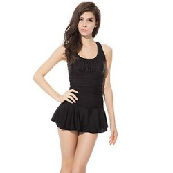 Women's Wireless Solid Halter One-pieces (Polyester)