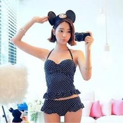 Women's Bikini Goddess Fashion Polka Dot Padded Bra Swimsuit Nz Bathing Suit