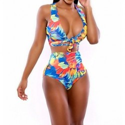 2019 New Arrival Swimsuit Nz Sexy Print High Waist Swimwear Nz High Elastic Polyester Plus Size Bikini For Women