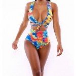 2015 New Arrival Swimsuit Nz Sexy Print High Waist Swimwear Nz High Elastic Polyester Plus Size Bikini For Women