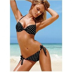 2019 Fashion Sexy Underwire Bathing Suit Push Up Two Piece Polka Dots Print Bikini Swimwear Nz For Women
