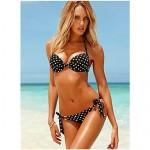 2017 Fashion Sexy Underwire Bathing Suit Push Up Two-Piece Polka Dots Print Bikini Swimwear Nz For Women