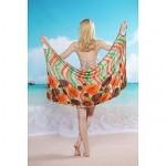 Women's Fashion Sexy Multi Flower Backless Deep-v Swimwear Nz Swimsuit Nz Beachdress Bikini Cover-up