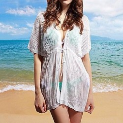 Womens Fashion Sexy Hollow Out Kintwear Sun Prevention Beach Cover Up