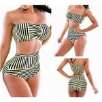 Color Striped waist Sexy Swimsuit Nz With a Chest Pad and Steel Ring 2 Color to Choose