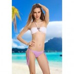 VBM Women's Fashion White Crystal Retro Bandeau Bikini Set Sexo Swimwear Nz Beachwear
