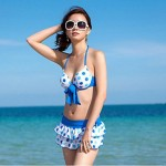 Sanqi Women's New Arrival Sweet Girl Style Push-up Deep V Bikini Swimming Suit