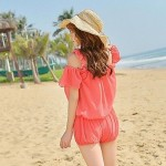 Women's Gather Chest Shoulders with Bikini Three Piece Suit