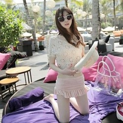 Women's Sexy Knitting Flower Cover-ups
