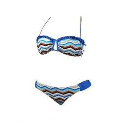 Women's Nylon/Polyester Sexy Print Push-up/Wireless Halter Bikini
