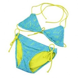 Women's Sexy Blue Print Push Up Bikini