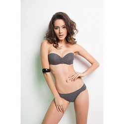 Gray Brazilian Bikini Fashion Wavelet Point