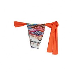 Pink Queen® Women's Nylon/Spandex Orange Fashion Sexy Stripe String Swimwear Nz Bottom