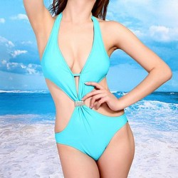 Sexy Woman's Summer New Backless Cut Out Swimsuit Nz One Piece Swimsuit Nz