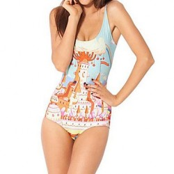 Women's Wireless Floral One-pieces (Spandex)