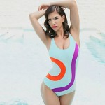 Women's Wireless/Padded Bras Color Block Halter One-pieces (Mesh/Nylon/Polyester)