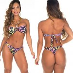 Women's Neoprene Bikinis Swimsuit Nz Set Push Up Bikini Set Candy Colour