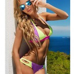 Women's Neoprene Bikinis Swimsuit Nz Set Push Up Bikini Set Candy Colour
