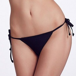Nzswimwear Women's Adjustable Stripped /Black Bikini Triangle Panties
