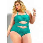Women's Sweetheart Ruched Plus Size Swimsuit Nz