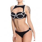 Women's Cutout Back Zipper Sexy Monokini Swimsuit Nz