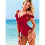Sexy Laciness Spaghetti Strap Off The Shoulder Swimwear Nz Solid Color Swimsuit Nz Push Up Bikini For Women