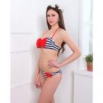 Women Nylon/Spandex Padded Bras Halter Bikinis Swimwear Nz Swimsuit Nz Bathing Suit